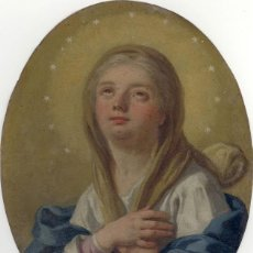 Arte: FRANCESCO DE MURA (ITALIAN, 1696 - 1782) VERGINE IMMACOLATA OIL ON COPPER VIRGEN INMACULADA. Lote 153659170