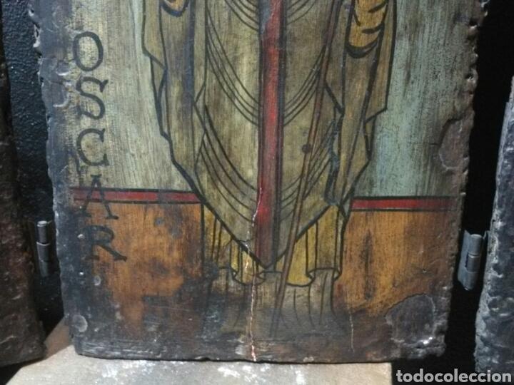 Arte: JOYA!! PIEZA MUSEO!! MUY ANTIGUO TRIPTICO SAN OSCAR - Foto 7 - 153659346