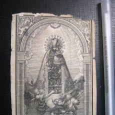 Arte: S.XIX BELLA ESTAMPA RELIGIOSA GRABADO VIRGEN DE LOS DESAMPARADOS VALENCIA REINO - SOLER GENOVES. Lote 153727094