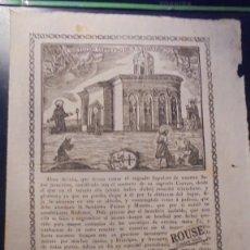 Arte: BARCELONA - ANTIGUO GRABADO - PRINCIPIO S. XIX EL SANTISIMO SEPULCRO DE N.S. JESUCHRISTO CONCEDIÓ . Lote 153801798