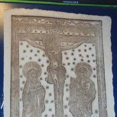 Arte: BARCELONA - ANTIGUO GRABADO FINAL S. XVIII PRINCIPIO S. XIX COFRADIA DEL SANT CRISTO DEL HOSPITAL GE. Lote 153802694