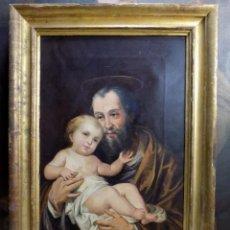 Arte: OLEO SOBRE LIENZO, SIGLO XIX, BUENA REALIZACION, 67 X 48,5 CON MARCO. Lote 153921802