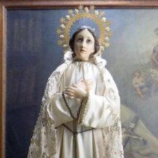 Arte: BONITA CAP Y POTA, VIRGEN PURISIMA, 93 CENTIMETROS CON CORONA,SIGLO XIX VER FOTOS Y DESCRIPCION. Lote 153932454