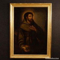 Arte: ANTIGUA PINTURA RELIGIOSA ESPAÑOLA SAN FRANCISCO DEL SIGLO XVIII.. Lote 153958058