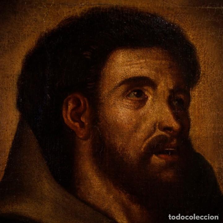 Arte: Antigua pintura religiosa española san francisco del siglo XVIII. - Foto 5 - 153958058