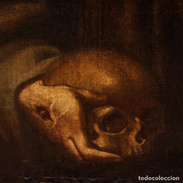 Arte: Antigua pintura religiosa española san francisco del siglo XVIII. - Foto 7 - 153958058