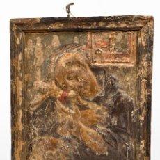 Arte: SAN FRANCISCO DE ASIS ,BAJORRELIEVE FINALES DEL SIGLO XVII. Lote 153958554