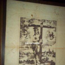 Arte: GRABADO LITOGRAFICO CRISTO DE TACORONTE.TENERIFE. CANARIAS.29 CM X 23 CM. Lote 154009590