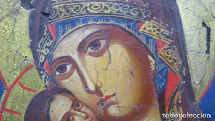 Arte: PRECIOSO ICONO. PINTADO A MANO SOBRE FONDO DE PAN DE ORO - Foto 3 - 154032958
