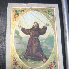 Arte: S.XIX BELLA ESTAMPA SAN FRANCISCO DE ASIS. Lote 154111798