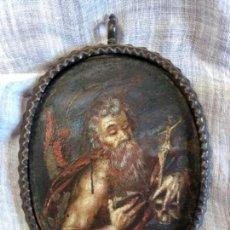 Arte: SAN JERONIMO PINTADO AL OLEO SOBRE COBRE CON MARCO DE FORJA.. Lote 154261170