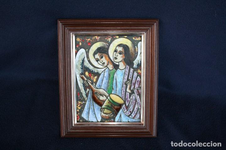 BONITO ESMALTE DE TEMA RELIGIOSO (Arte - Arte Religioso - Pintura Religiosa - Otros)