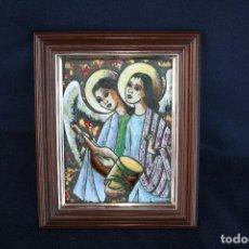 Arte: BONITO ESMALTE DE TEMA RELIGIOSO. Lote 154271646