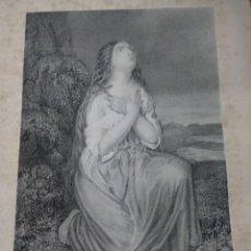 Arte: GRABADO MARIA MAGDALENA MUGERES DE LA BIBLIA JOAQUIN ROCA Y CORNET AÑO 1862. Lote 154276786