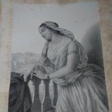 Art: GRABADO MICHOL MUGERES DE LA BIBLIA JOAQUIN ROCA Y CORNET AÑO 1862. Lote 154276966