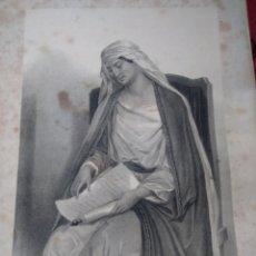 Arte: GRABADO ANA MADRE DE LA VIRGEN MUGERES DE LA BIBLIA JOAQUIN ROCA Y CORNET AÑO 1862. Lote 154278182