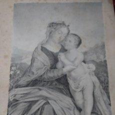 Arte: GRABADO SANTISIMA VIRGEN MUGERES DE LA BIBLIA JOAQUIN ROCA Y CORNET AÑO 1862. Lote 154278262