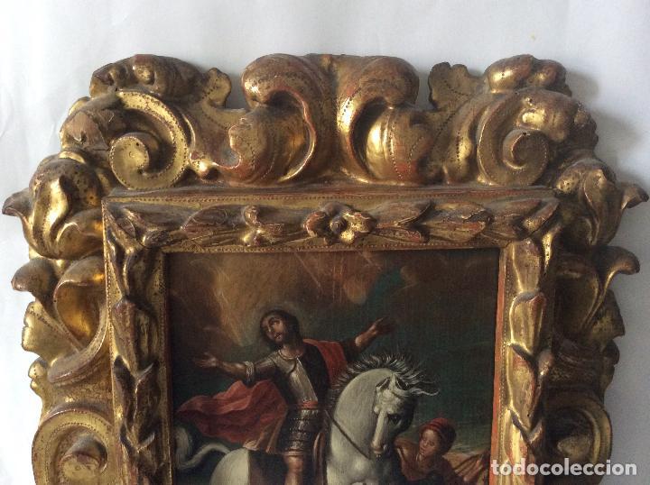 Arte: SAN MARTÍN DE TOURS ,SIGLO XVIII.ÓLEO SOBRE TABLA CON MARCO DE ÉPOCA.IDEAL COLECCIONISTAS - Foto 2 - 154293898