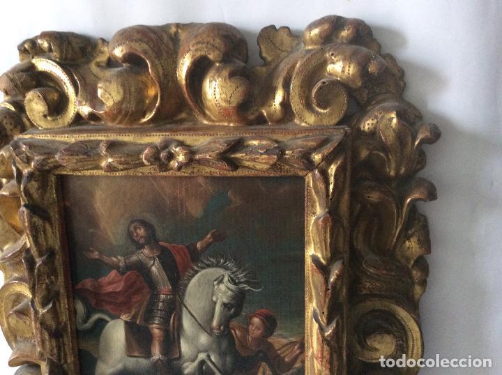 Arte: SAN MARTÍN DE TOURS ,SIGLO XVIII.ÓLEO SOBRE TABLA CON MARCO DE ÉPOCA.IDEAL COLECCIONISTAS - Foto 3 - 154293898