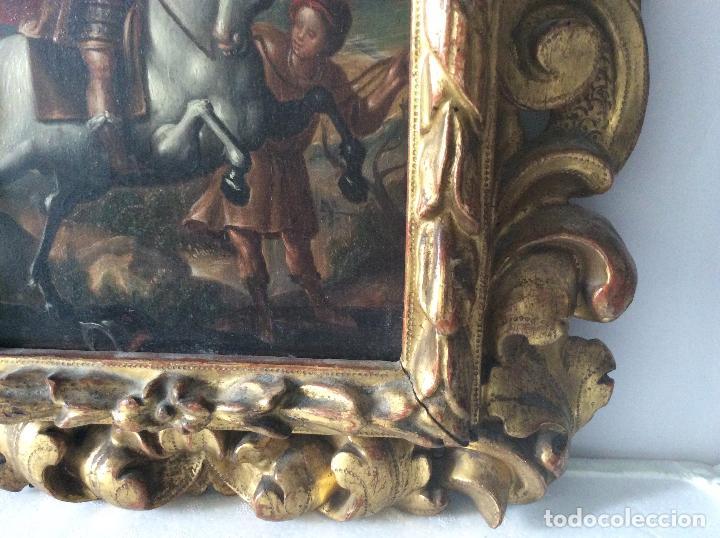 Arte: SAN MARTÍN DE TOURS ,SIGLO XVIII.ÓLEO SOBRE TABLA CON MARCO DE ÉPOCA.IDEAL COLECCIONISTAS - Foto 5 - 154293898
