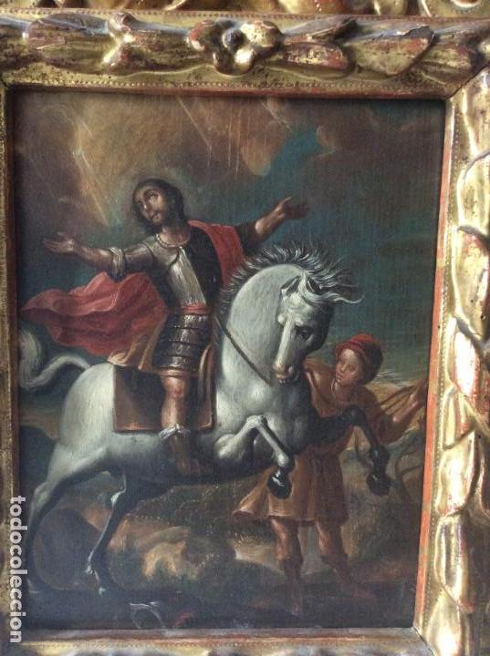 Arte: SAN MARTÍN DE TOURS ,SIGLO XVIII.ÓLEO SOBRE TABLA CON MARCO DE ÉPOCA.IDEAL COLECCIONISTAS - Foto 6 - 154293898