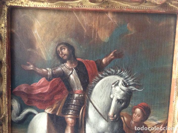 Arte: SAN MARTÍN DE TOURS ,SIGLO XVIII.ÓLEO SOBRE TABLA CON MARCO DE ÉPOCA.IDEAL COLECCIONISTAS - Foto 7 - 154293898