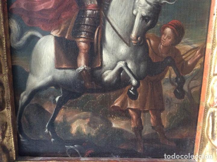 Arte: SAN MARTÍN DE TOURS ,SIGLO XVIII.ÓLEO SOBRE TABLA CON MARCO DE ÉPOCA.IDEAL COLECCIONISTAS - Foto 8 - 154293898