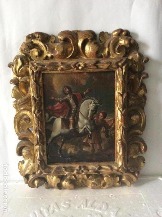 Arte: SAN MARTÍN DE TOURS ,SIGLO XVIII.ÓLEO SOBRE TABLA CON MARCO DE ÉPOCA.IDEAL COLECCIONISTAS - Foto 11 - 154293898