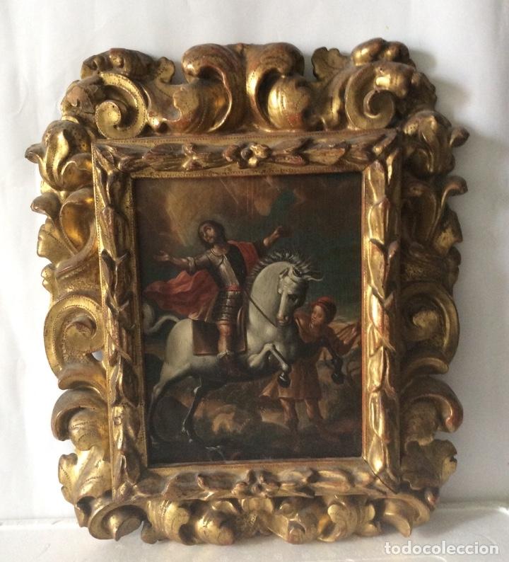 Arte: SAN MARTÍN DE TOURS ,SIGLO XVIII.ÓLEO SOBRE TABLA CON MARCO DE ÉPOCA.IDEAL COLECCIONISTAS - Foto 9 - 154293898