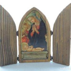 Art: EXCELENTE TRIPTICO RELIGIOSO ESCENAS DE LA BIBLIA PIEZA DE COLECCIÓN. Lote 154293910