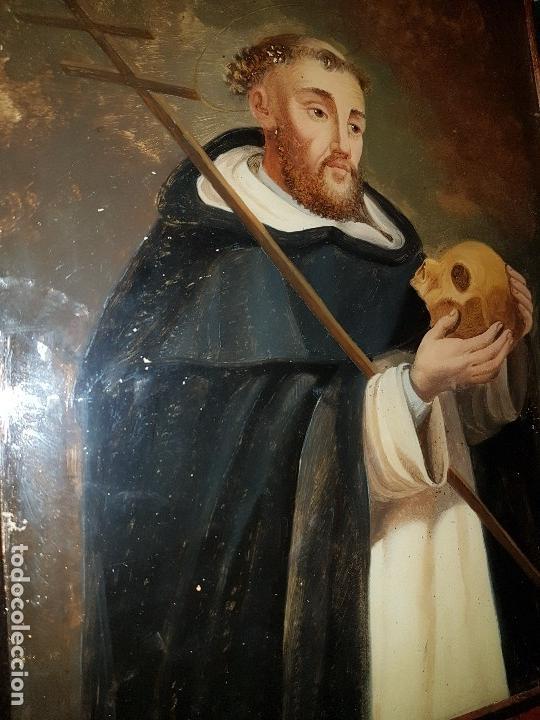 Arte: OLEO SOBRE CRISTAL SG XVIII, SAN FRANCISCO ENMARCADO - Foto 4 - 154327286