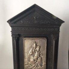 Arte: CAPILLA BAQUELITA, CON IMAGEN DE LA VIRGEN DEL CARMEN -16X12 CM. Lote 154394366