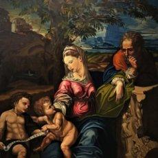 Arte: SAGRADA FAMILIA DE RAFAEL, GRAN FORMATO, COPIA DEL MUSEO DEL PRADO. Lote 154430122
