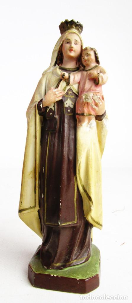 Arte: PRECIOSA VIRGEN DEL CARMEN CIRCA 1910 TALLERES ORNATO OLOT - Foto 2 - 154552378
