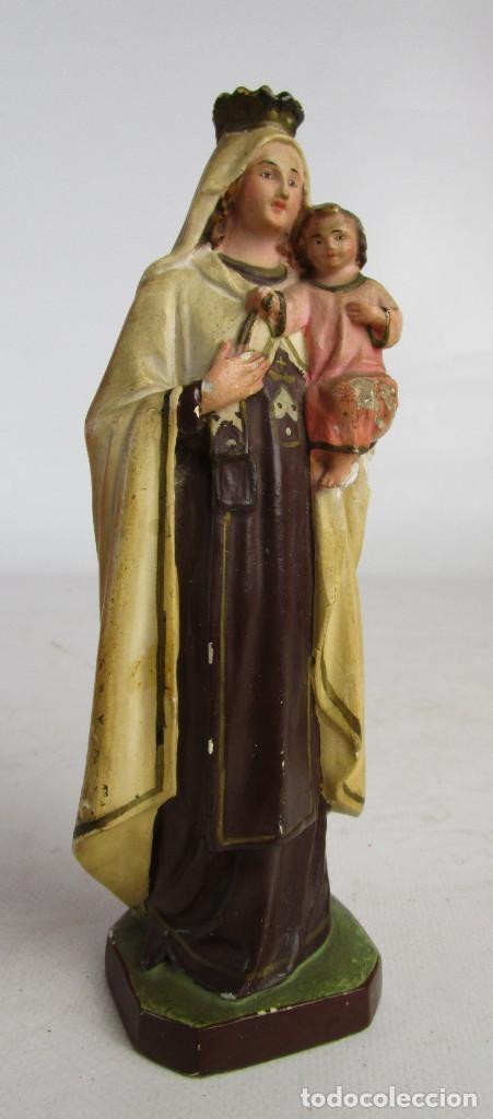 Arte: PRECIOSA VIRGEN DEL CARMEN CIRCA 1910 TALLERES ORNATO OLOT - Foto 3 - 154552378