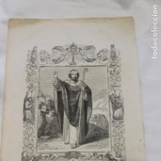 Arte: GRABADO SAN FERMIN OBISPO, GRABO CAPUZ, 1853. Lote 154636158