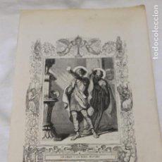 Arte: GRABADO SAN ABDON Y SAN SENEN, GRABO CAPUZ, 1853. Lote 154636378