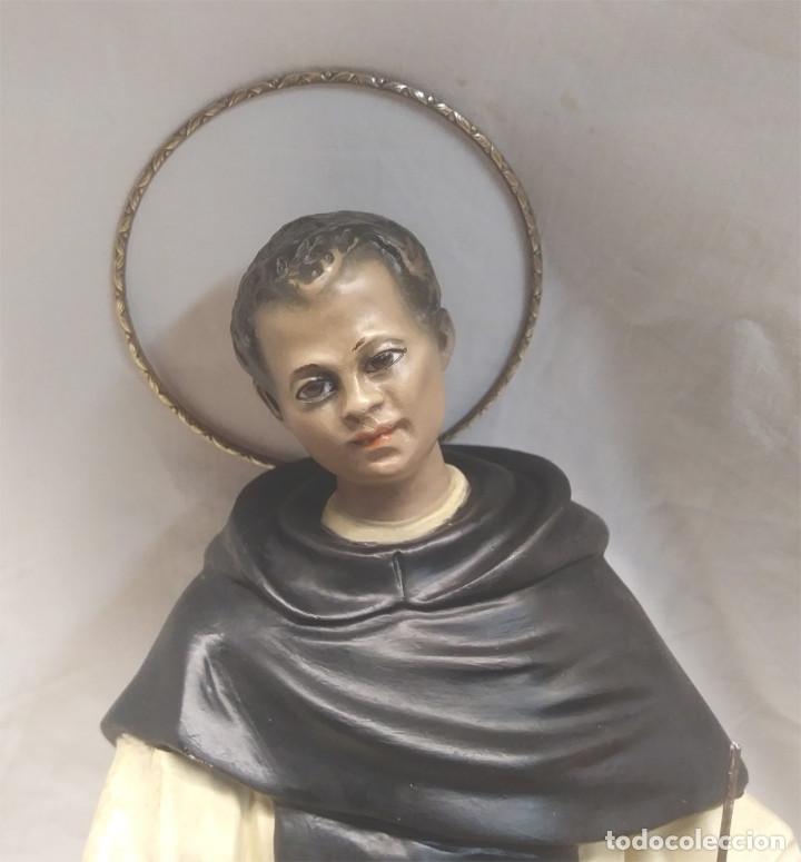 Arte: San Martin de Porres Fray Escoba años 20, escultura Religiosa Renalias. Med. 38 cm - Foto 2 - 154710666