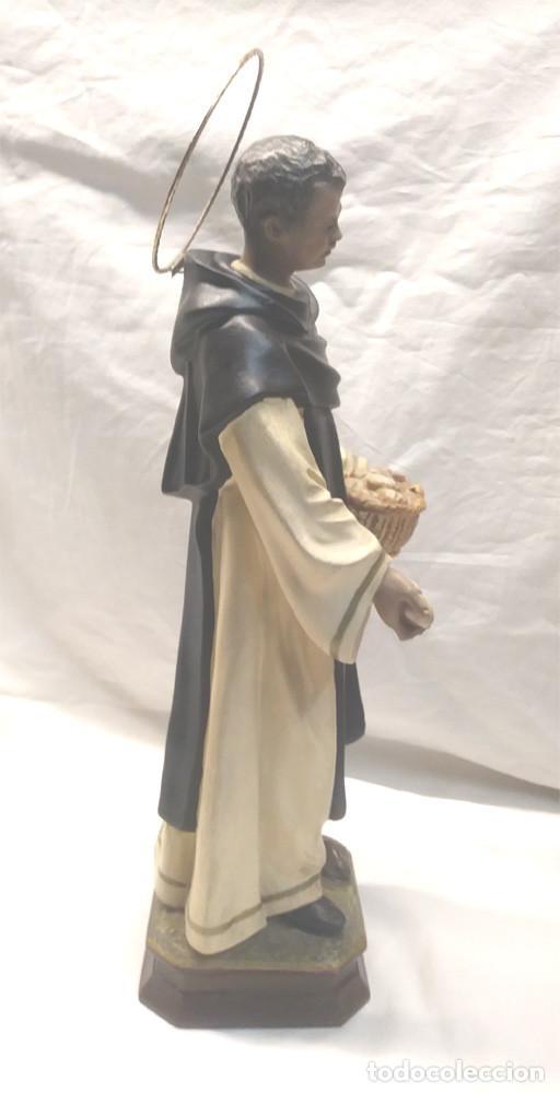 Arte: San Martin de Porres Fray Escoba años 20, escultura Religiosa Renalias. Med. 38 cm - Foto 4 - 154710666
