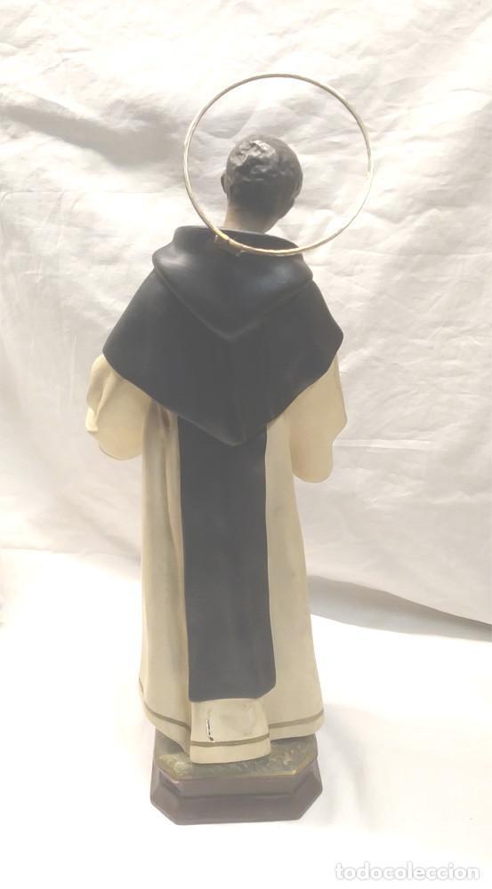 Arte: San Martin de Porres Fray Escoba años 20, escultura Religiosa Renalias. Med. 38 cm - Foto 5 - 154710666