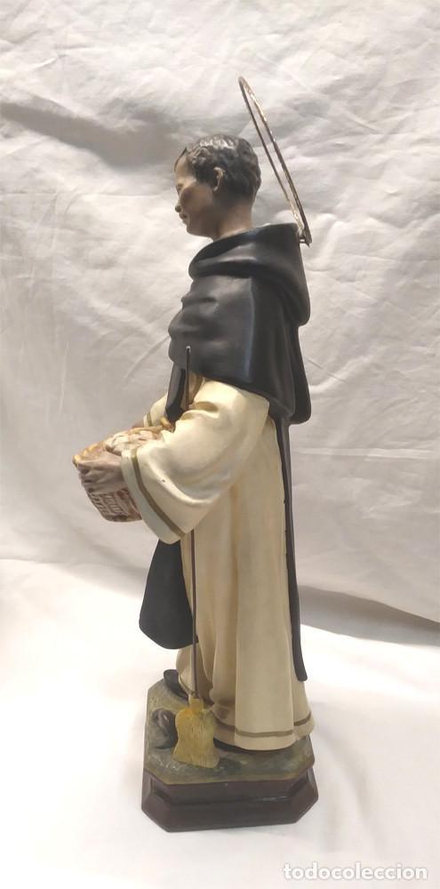 Arte: San Martin de Porres Fray Escoba años 20, escultura Religiosa Renalias. Med. 38 cm - Foto 6 - 154710666