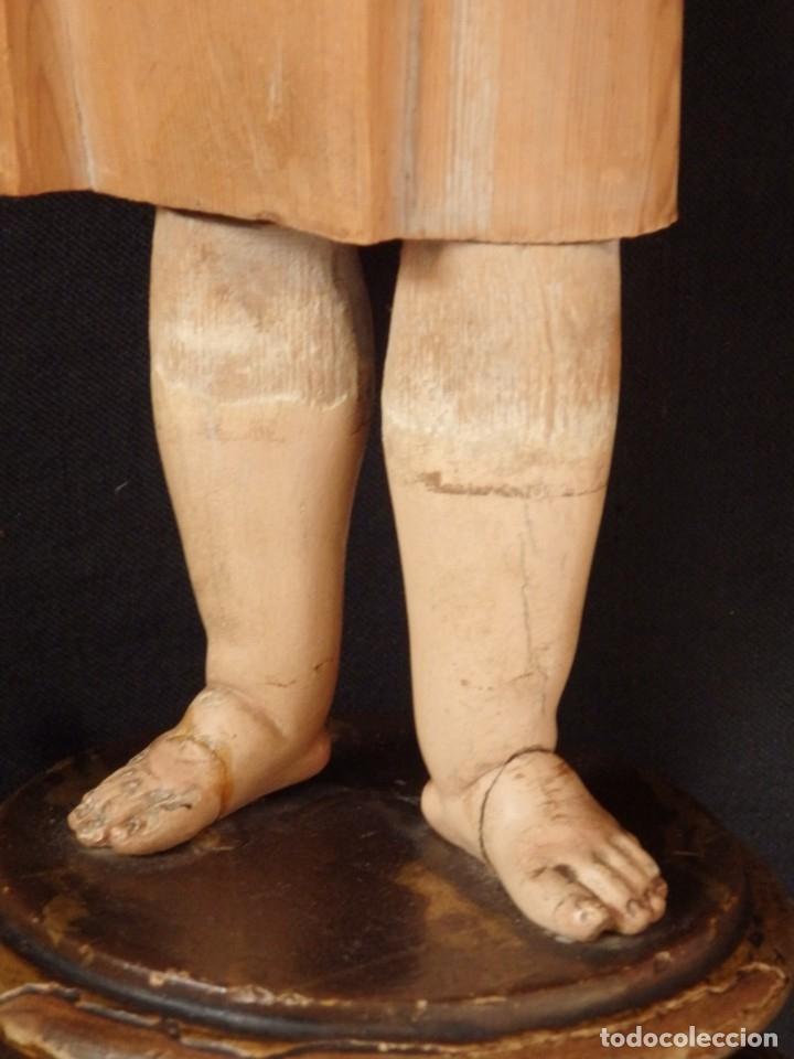 Arte: Niño Jesús. Imagen vestidera o cap i pota en madera policromada. 47 cm. Hacia 1900. - Foto 6 - 154722550