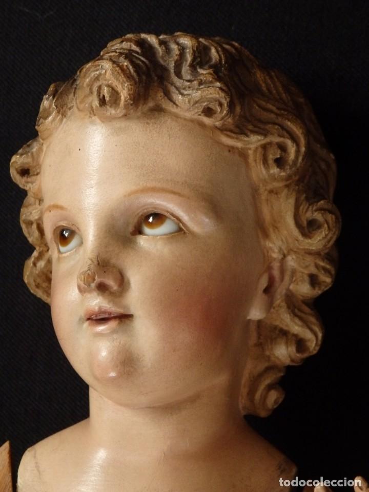 Arte: Niño Jesús. Imagen vestidera o cap i pota en madera policromada. 47 cm. Hacia 1900. - Foto 9 - 154722550