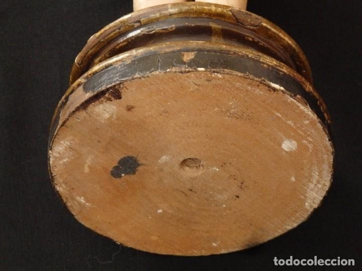 Arte: Niño Jesús. Imagen vestidera o cap i pota en madera policromada. 47 cm. Hacia 1900. - Foto 11 - 154722550