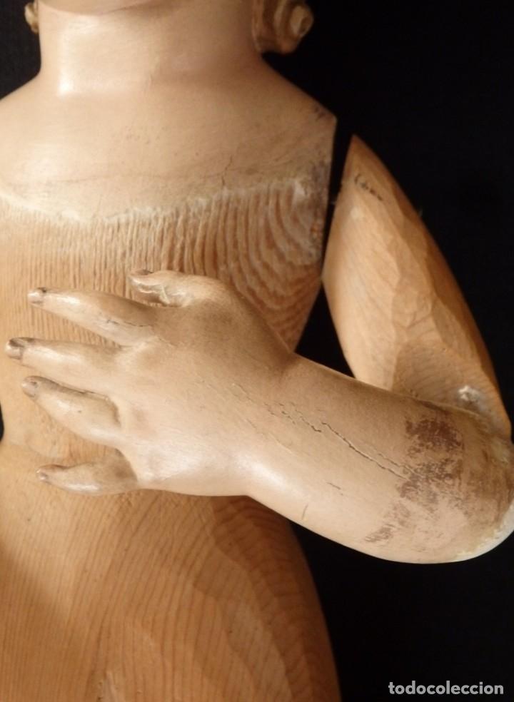 Arte: Niño Jesús. Imagen vestidera o cap i pota en madera policromada. 47 cm. Hacia 1900. - Foto 15 - 154722550