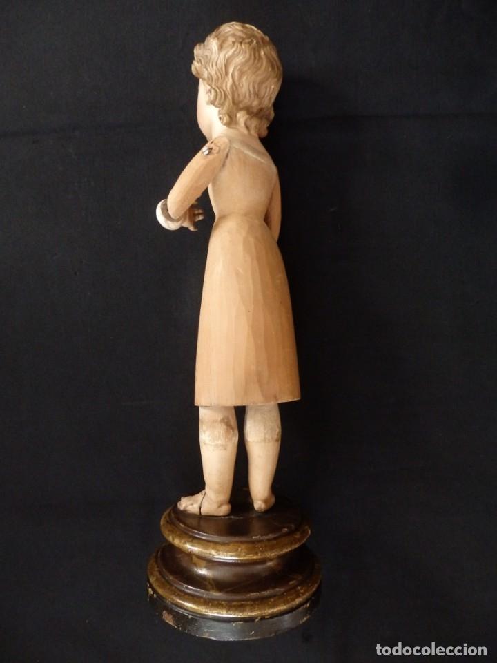 Arte: Niño Jesús. Imagen vestidera o cap i pota en madera policromada. 47 cm. Hacia 1900. - Foto 16 - 154722550