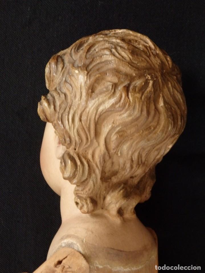 Arte: Niño Jesús. Imagen vestidera o cap i pota en madera policromada. 47 cm. Hacia 1900. - Foto 18 - 154722550