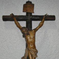 Arte: ANTIGUO CRISTO CRUCIFICADO. S.XVIII. TALLA DE MADERA. POLICROMÍA DE ÉPOCA.. Lote 154764238