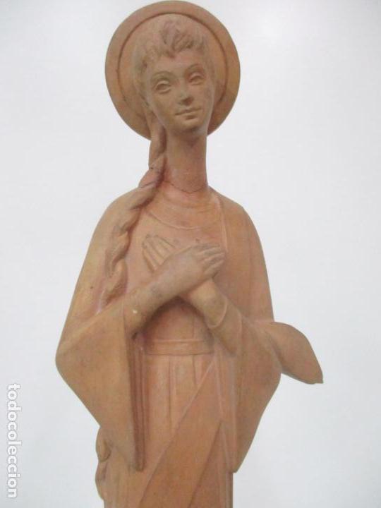 Arte: Bonita Virgen Purísima - Terracota - Firma J. Casadevall - Escuela de Olot - Foto 7 - 154776490