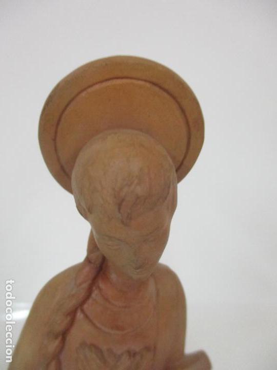 Arte: Bonita Virgen Purísima - Terracota - Firma J. Casadevall - Escuela de Olot - Foto 9 - 154776490